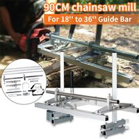36 Inch Planking Milling Bar Size Portable Chain Saw Chainsaw Mill Machine 18'' to 36'' Planking Lumber Cutting Wood Tools