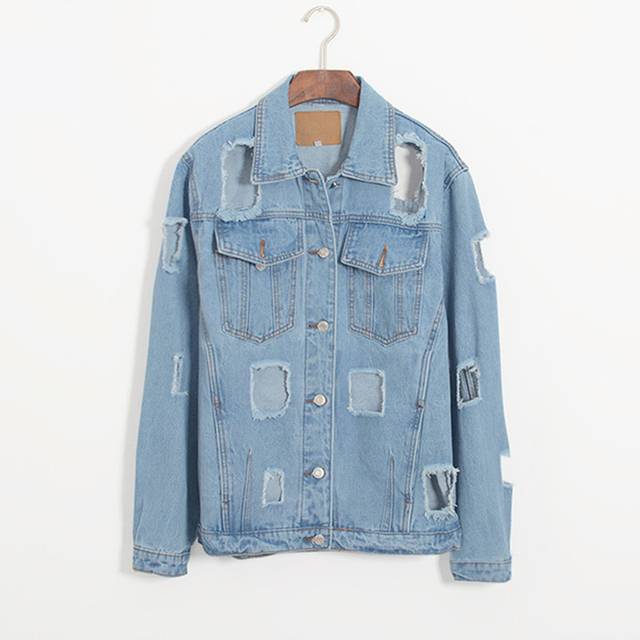offer cost charm skilful manufacture US $39.21 22% OFF|Nice Sping Fashion Women Cloth Cotton Denim Jacket Single  breasted Hole Vintage Short Coat Casual Soft Slim Denim Jacket Outwear-in  ...