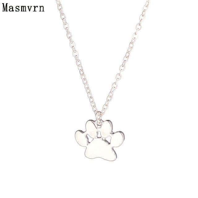 Minimalist jewelry dog paw necklace pawprint necklaces fashion paw minimalist jewelry dog paw necklace pawprint necklaces fashion paw print pendant dog pet jewelry memorial gift aloadofball Images