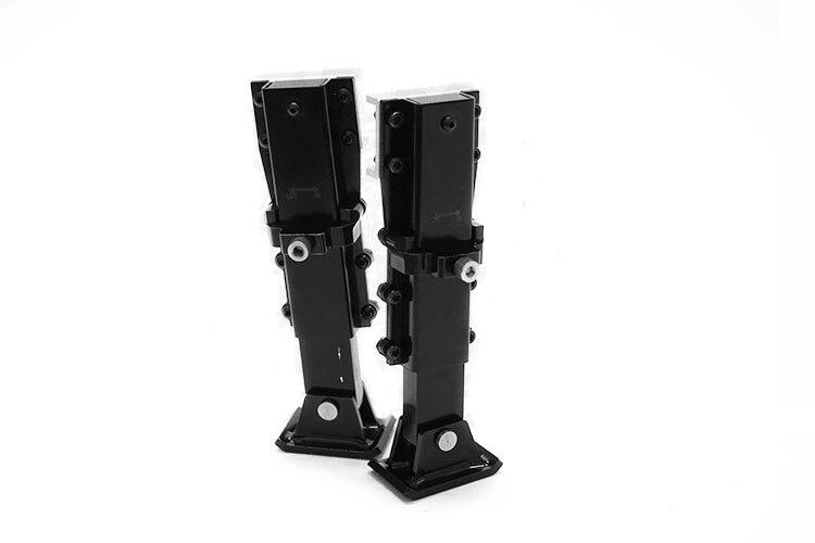 1 paire 1/14 supports de trépied de remorque en acier train d'atterrissage pieds d'atterrissage support protecteur pour TAMIYA camion tracteur RC voiture mise à niveau