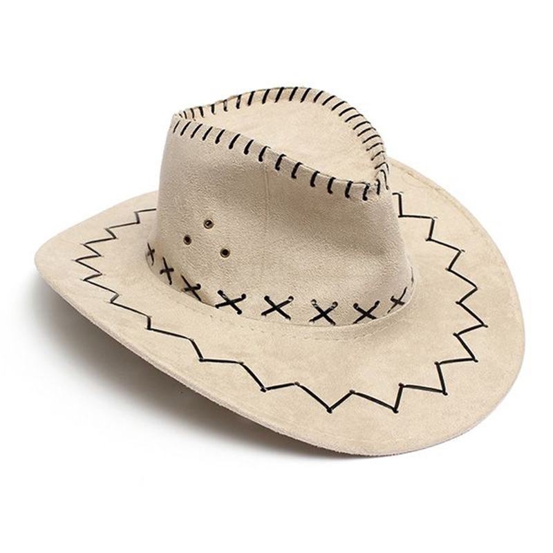 SAF-Hot Retro <font><b>Unisex</b></font> Denim Wild West <font><b>Cowboy</b></font> Cowgirl Rodeo Fancy Dress Accessory <font><b>Hats</b></font> image
