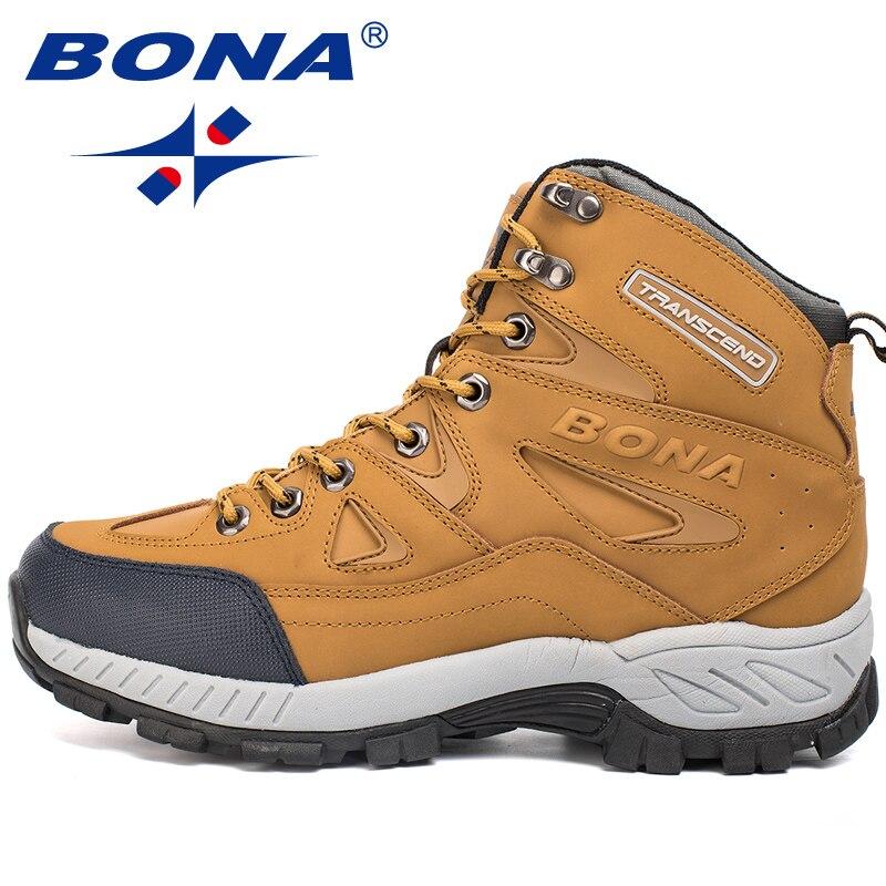 BONA nouveauté hommes chaussures de randonnée anti-dérapant chaussures de Sport en plein air marche Trekking escalade baskets Zapatillas bottes confortables - 5