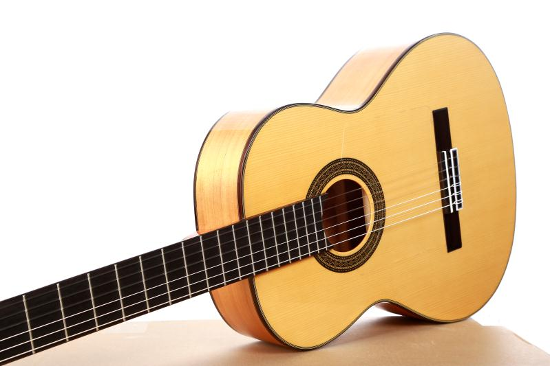Professional Handmade 39 inch Acoustic Flamenco guitar With Solid Spruce/Aguadze Body +STRINGS,Classical guitar