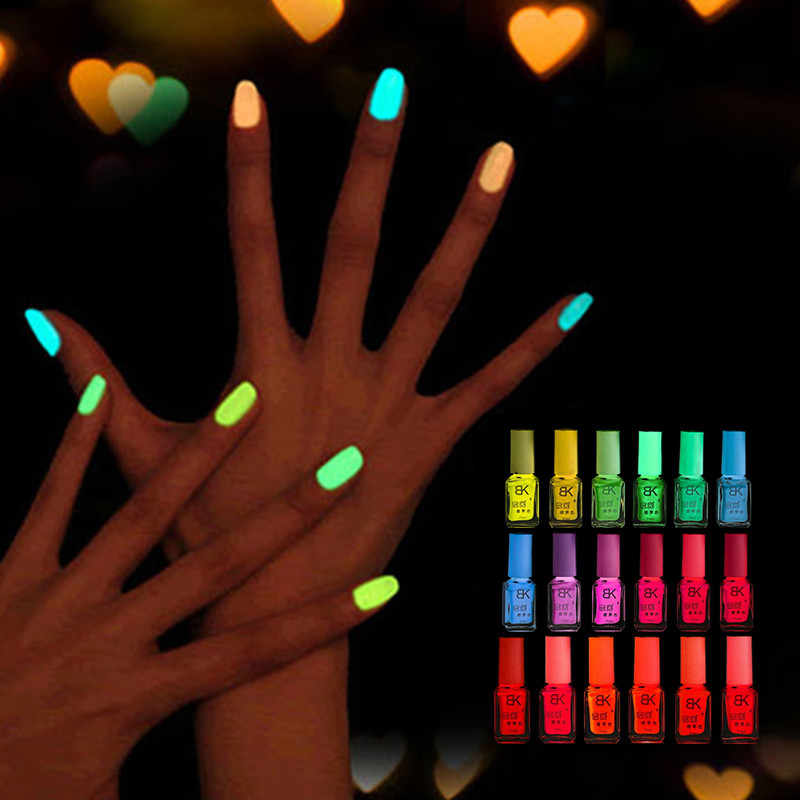 7ml Fluorescent Glow In The Dark Paint UV Light Nail Polish Neon Nagellak Candy Nail Lacquer Nail Gel Polish Festival TSLM1