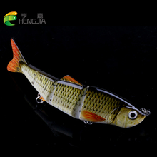 HENGJIA 1PC Hard Fishing Lure 115mm 16.5g Multi Jointed 3D Eyes 4 Segment Crankbait wobblers Bait tackle