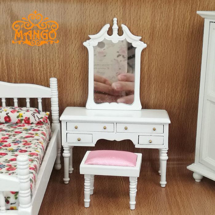 Majhno pohištvo za lutke 1/12 Scale, predalnik in stolček za - Igra igranja vlog - Fotografija 5
