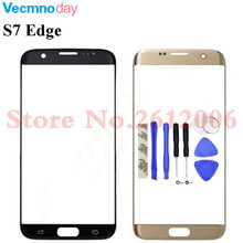 For Samsung Galaxy S7 Edge G935F G935 Touch Screen Front Glass Touch Panel Cover Front Outer Glass Lens Repair Parts + 3M Glue