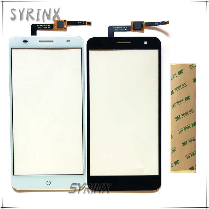 Syrinx 5.2 inch With 3M Sticker Mobile Phone Front Glass Touch Screen Digitizer For ZTE Blade V7 Touchscreen Sensor Panel