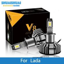 Car Headlight For Lada GRANTA KALINA LARGUS PRIORA Niva SAMARA VESTA XRAY H7 LED H4 LED H1 H7 H3 9005 6500K 8000LM CSP Light