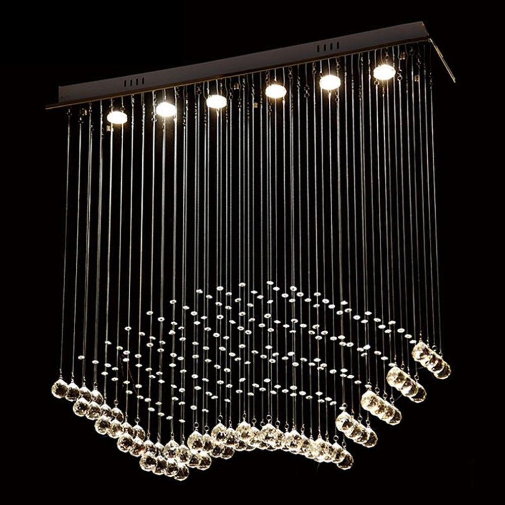Modren Modern Bedroom Chandeliers Room Lights Led Ceiling Light Atmosphere Living Fanshaped Crystal Intended Decorating