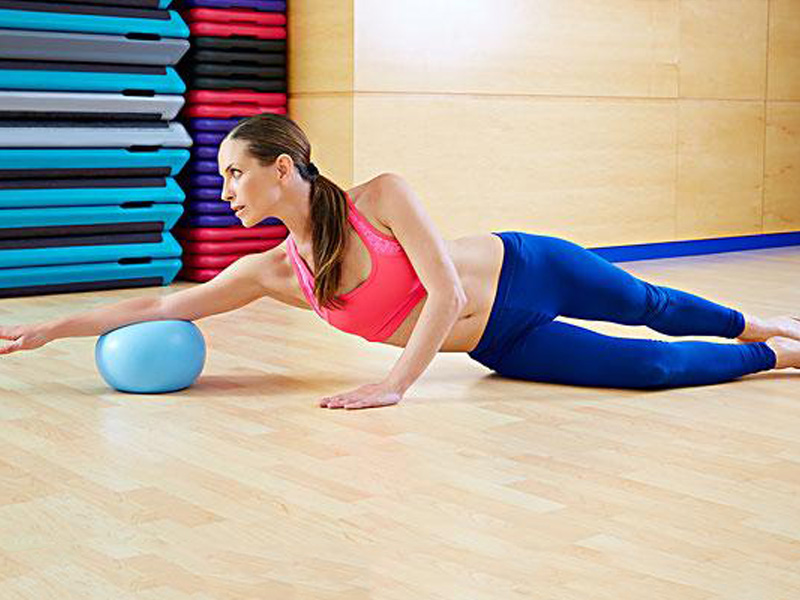 Joerex I.CARE Fitball with Air Pump 22cm High Elastic Exercise Yoga Ball for Balance,Fitness,Gym,Pilates