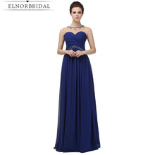 2017 Elegant Navy Evening Dresses Long Sheer Women Formal Prom Dress Vestido De Noche Imported Party Gowns Free Shipping