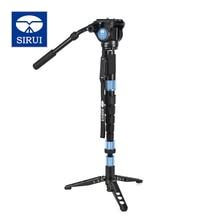 Buy DHL Free Camera Carbon Tripod Legs Monopod +Ball Head 2in1 Kit Sirui P326S+VH10 For DSLRs Video Professional Light One Leg Stand