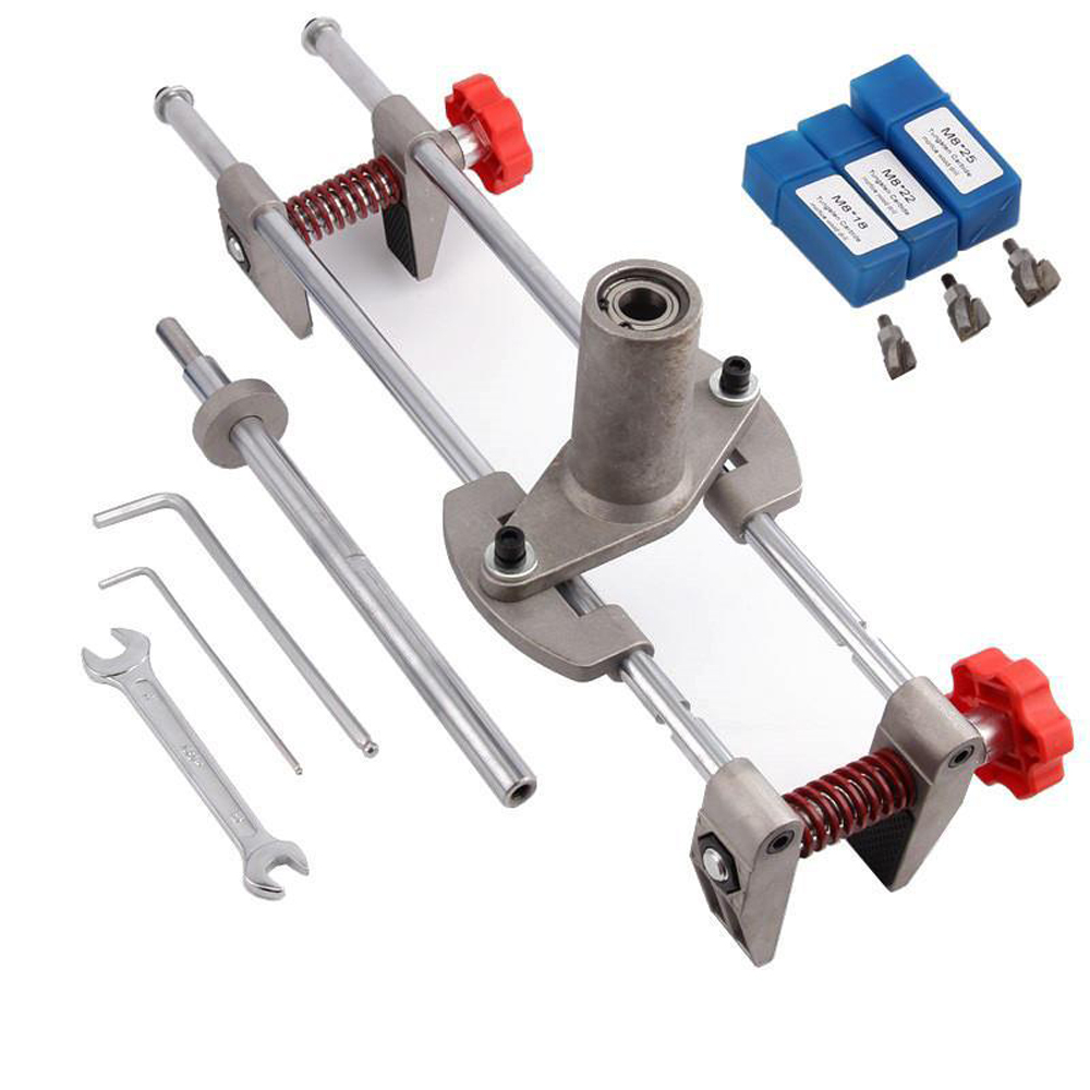 Security Door Lock Mortiser Kit 3 Cutters Door Lock Mortiser Fitting Jig Mortice Kit with Wrench