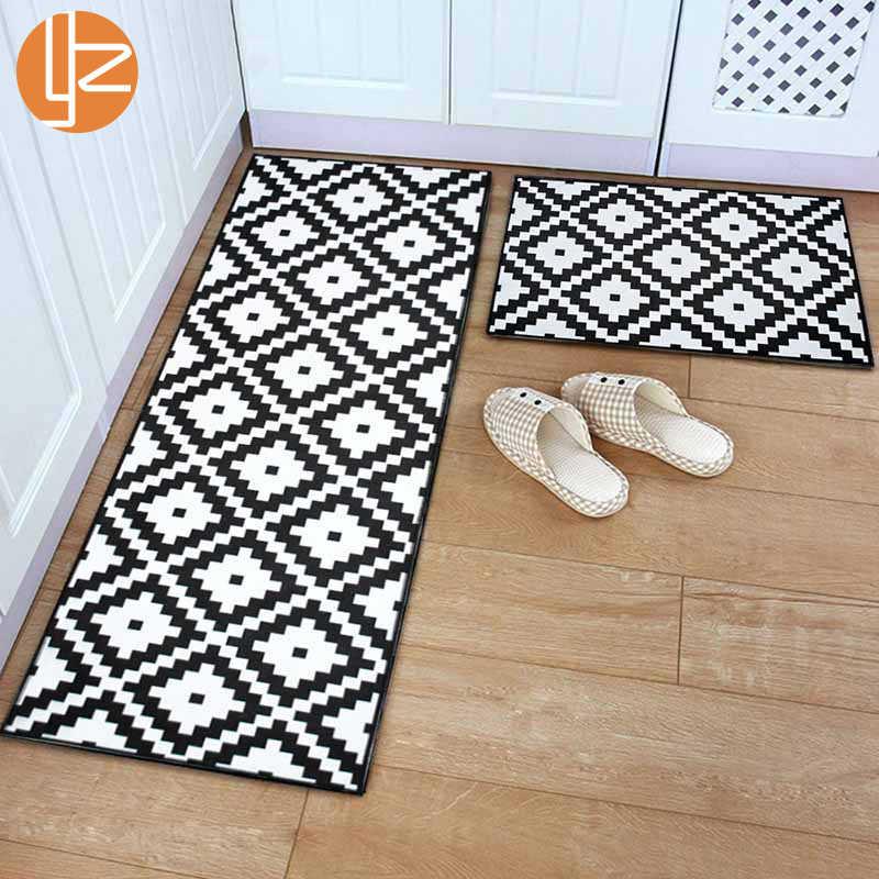 Tapete longo do tapete da cozinha do corredor antiderrapante interno da esteira do assoalho da porta da entrada da frente do antiderrapante de yazi para o corredor do quarto