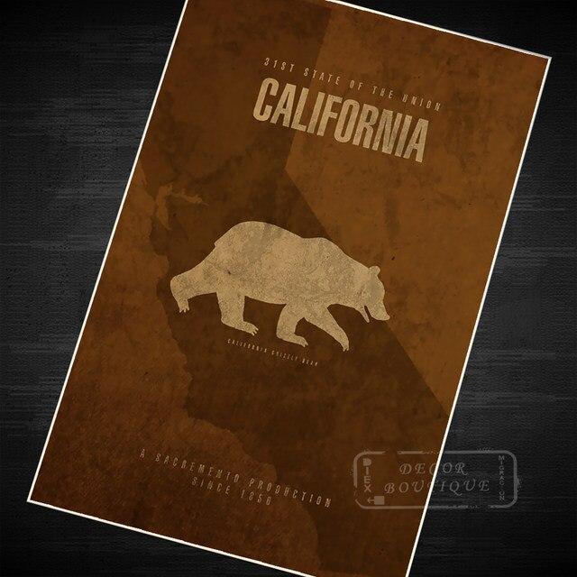 Online Shop California Bear Futurism Minimalism Art Vintage Retro ...