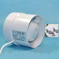 4 inch 4'' 100mm Kitchen Toilet Wall Circular Exhaust Fan Powerful Mute Axial Flow Fan Ventilator