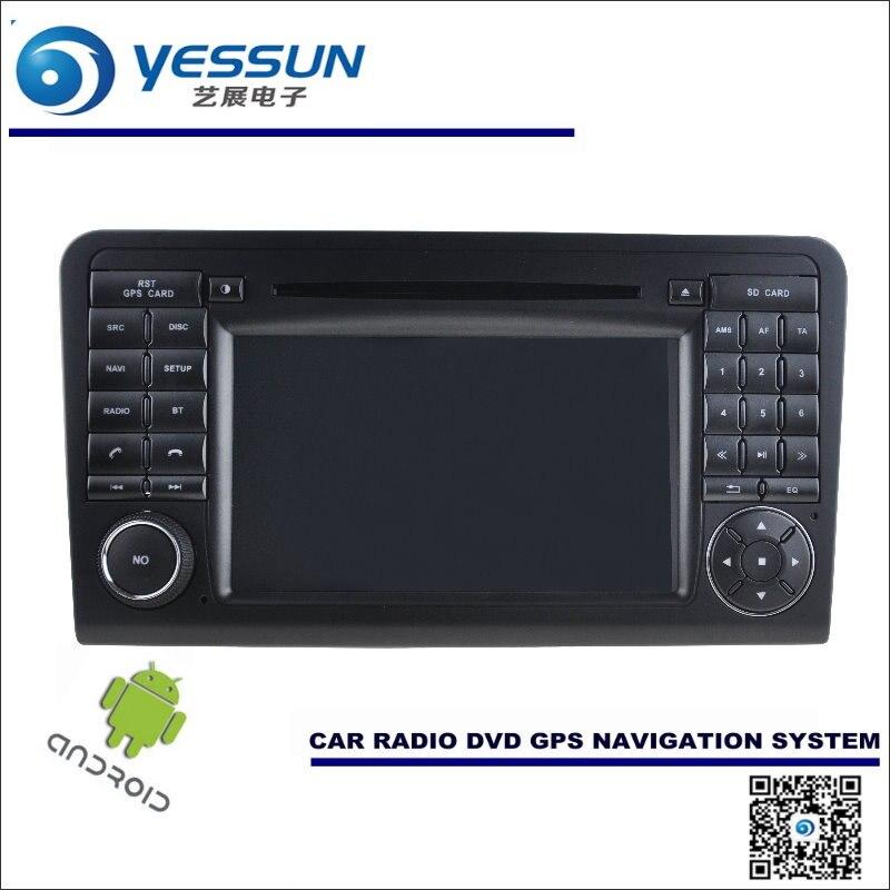 Android Navegación del coche Para Mercedes Benz ML Class W164 ML350 ML400-Radio