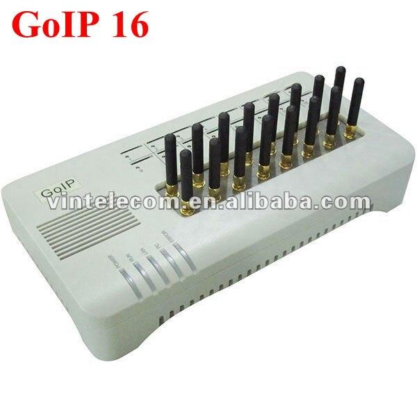 16 Schede SIM Canale DBL VOIP GSM Gateway GOIP16 16 Chip GOIP IMEI cambiamento di sostegno sim banca (con il bicchierino antenne)-vendita calda