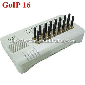 16 Tarjetas SIM canal DBL goip16 Gateway VoIP GSM 16 chips cambio GOIP IMEI soporte SIM banco (con antenas cortas) -Venta caliente