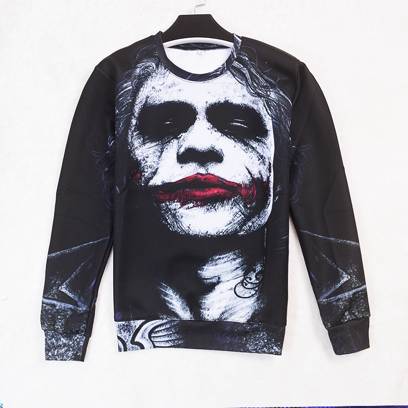 new Joker Dark Knight 3d Sweats Women Men Batman DC Comics No Hoodies Pullovers Inked Sweatshirt