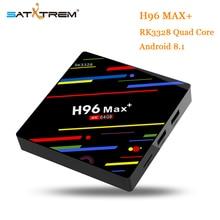 Satxtrem H96 MAX Plus Android 8,1 smart TV Box 4 GB RAM 64 GB ROM Set Top Box RK3328 2,4 g/5G Wifi 4 K H.265 4 GB 32 GB Media Player