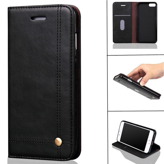 For iPhone Case Magnetic Retro Luxury PU Leather Flip Cover Phone Cases For iPhone 7 7 Plus 6 6S 6Plus 6s Plus 5 5S SE Fundas