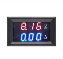 Voltímetro amperímetro digital, voltímetro digital dc 0-100v, 10a, detector de tensão, amperímetro, visor duplo, painel medidor de corrente, medidor de 0.28