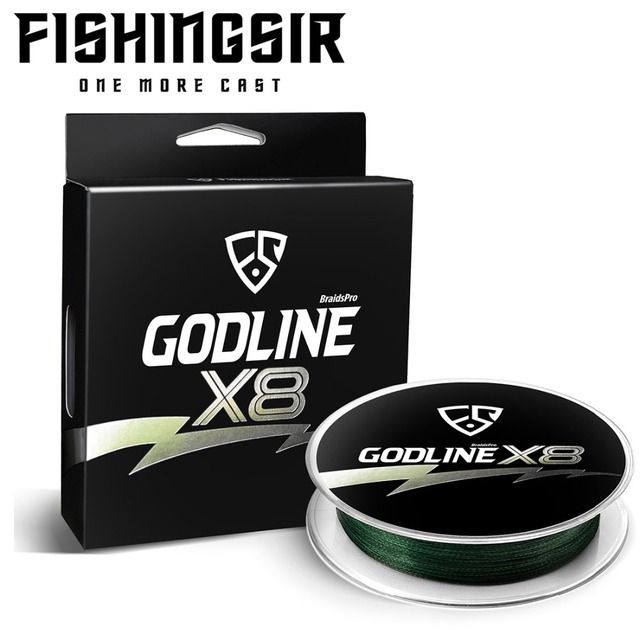 Cheap FISHINGSIR Godline X8 Braided Fishing Line - 115M 8 Strands Stronger Braid Lines Abrasion Resistant Superline Super Power Lines