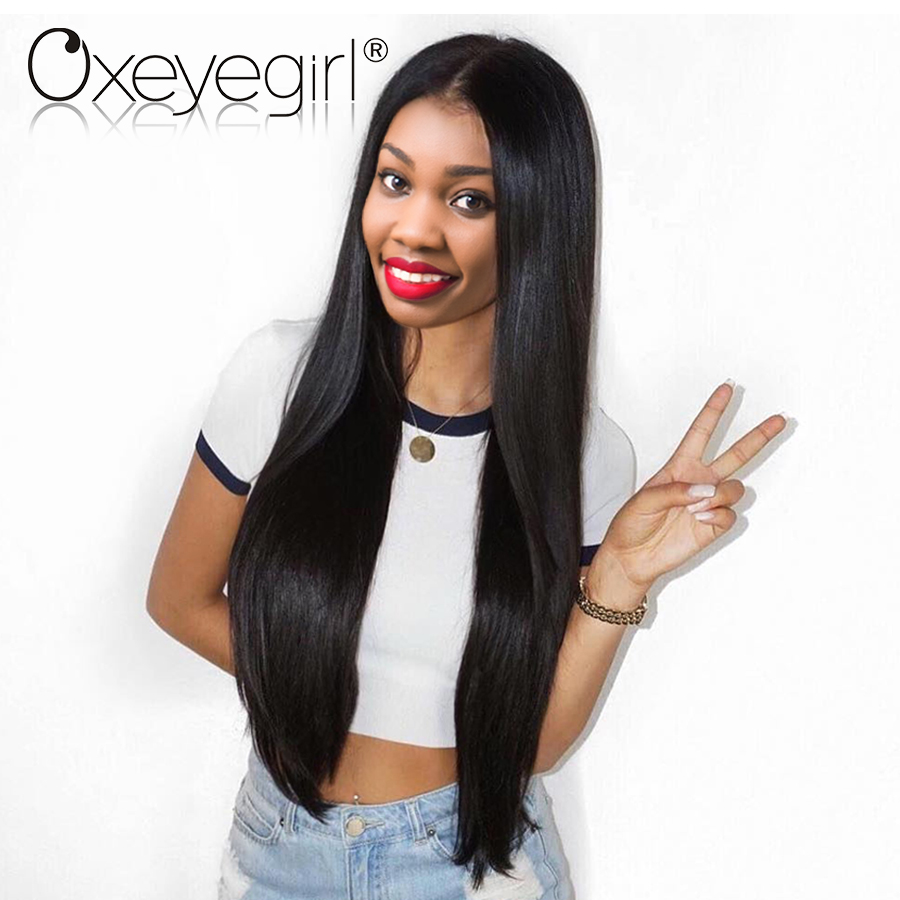 180% Density Lace Front Human Hair Wigs With Baby Hair Brazilian Straight Hair Wigs Lace Front Wigs Oxeyegirl Nonremy Human Hair