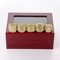 5Pcs/Set Football Championship Ring NFL Dallas Cowboys World Champions Menta Alloy Ring Football Fans Souvenir Collection SP1390