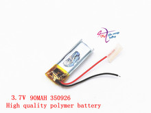 Liter energy battery 3.7V polymer lithium battery 350926 90MAH small toy MP4 MP3 Bluetooth headset small LED lamp
