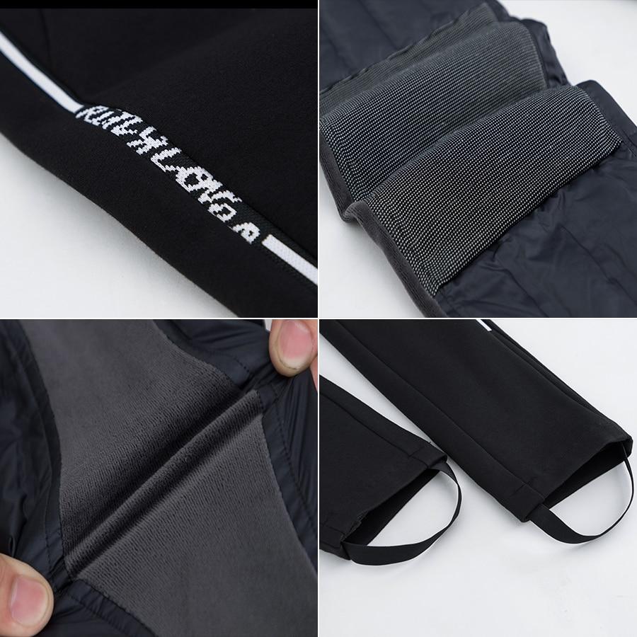 Formelle Maigre 1828 Travail Femelle Noir Taille Chaud Duvet Femmes Élastique Haute Canard Pantalon De D'hiver xzAq1Ag
