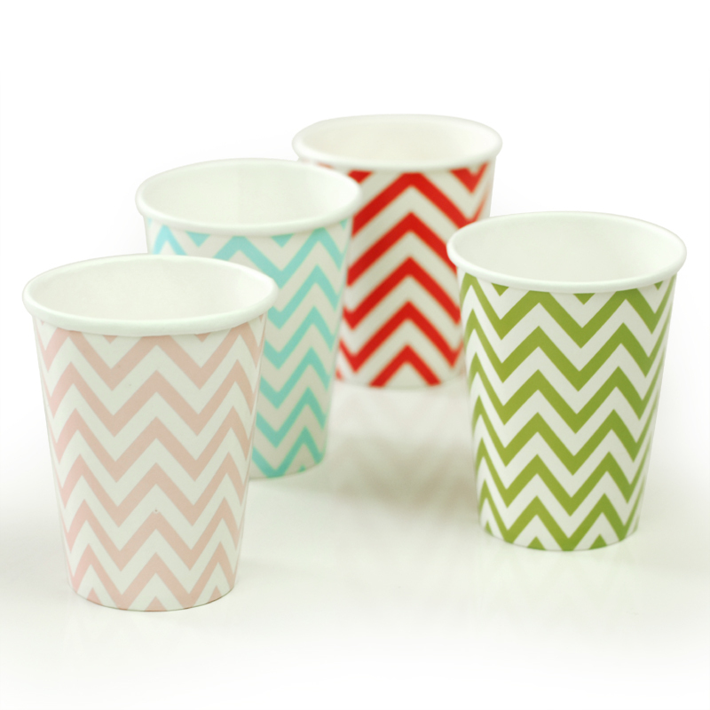 Hot Ing 6000pcs Chevron Striped Dot Diposable Paper Cups Birthday Wedding Party Decor Supplies Coffee In Event From Home Garden On