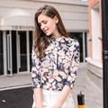 women's clothing in the spring of with new elegant collar female temperament cardigan joker chiffon unlined upper garment