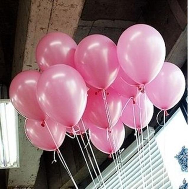 10 sztuk/partia 10-calowy Różowy Pearl Lateksowe Balony 9 Kolory Nadmuchiwane Okrągły Happy Birthday Party Balony Ślubne Wystrój Zabawka Piłka Powietrza