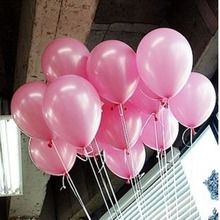 10pcs lot 10 inch Pink Pearl Latex Balloons 9 Colors Inflatable Round Air Toy Ball Wedding