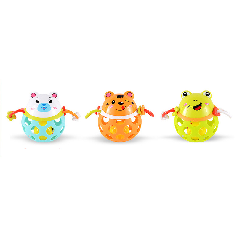 0-12 Months Baby Rattles Toy Intelligence Grasping Gums Plastic Animal Music Hand Shake Toy Early Educational Gift For Newborn
