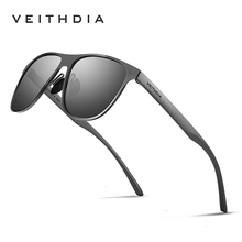 New VEITHDIA Brand Unisex Stainless Steel Sunglasses Polarized  Eyewea