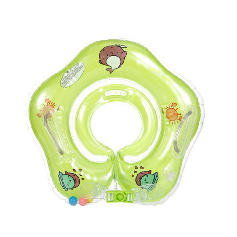 Cute Drop Neck Baby Swim Float Ring Big Dolphin Accessories Safety Swimming Hose Ring Inflatable Bath