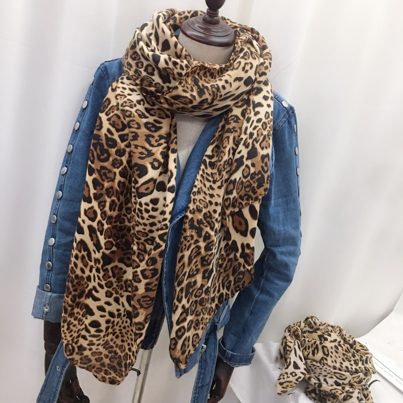 Fashion Women/'s Leopard Scarf Long Supet Soft Scarves Wrap Shawl