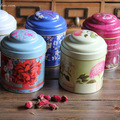 8pcs/lot double layer sugar tin box tea can food container airtight canister