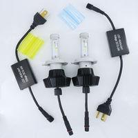 DIY 3 Colors 4300K 6000K 8000K 12V LED Car H4 led Headlights For Samsung Chips H7 Car Head Lamp Bulbs 80W H11 LED Light Kit