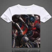 NEW free shipping Anime Captain America T shirt superman breathable The Avengers t-shirt men's Workout clothes