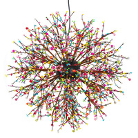Retro LOFT Spark Colorful Fireworks Acrylic Wrought Iron Chandelier For Dining Living Room Kitchen Light Hanging