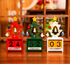 New Creative Ornaments Christmas Decorations Wooden Christmas Tree Ornaments Children Study Decorative Gift Desktop Calendar