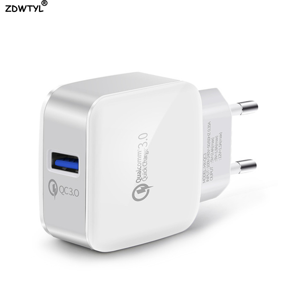 USB Wall Charger Quick Charge 3.0 Fast Charger Fit QC2.0 USB Adapter 18W Portable travel Charger For Xiaomi Huawei LG Chargers