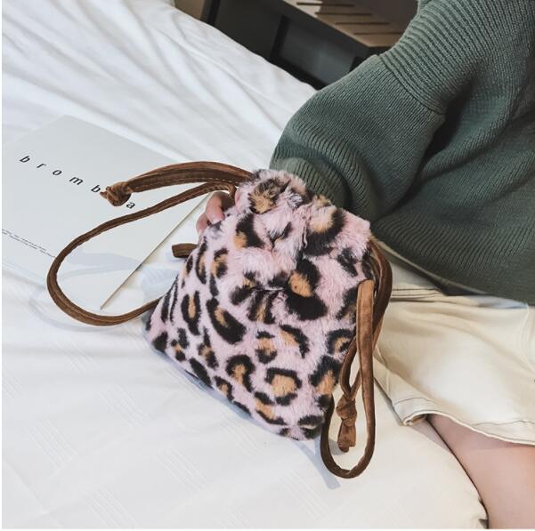 Selvaggio Principessa Personalità Crossbody Nuovo Inverno Sacchetto Mini Tendenza 2018 Leopardo 2 Della Borsa 1 Secchiello Del Spalla Di qBXnAzOxw1
