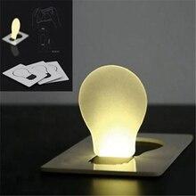 Hot Sales Light Pocket Wallet Size Lamp White Portable 1PC Creative Credit Card LED Bulb