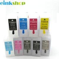 Einkshop 9pcs 9 colors Empty For epson T5801 Refillable Ink Cartridge for epson Stylus pro 3800 Printer T5801 T5809